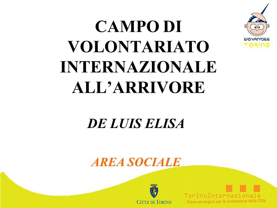 CAMPO DI VOLONTARIATO INTERNAZIONALE ALL'ARRIVORE
