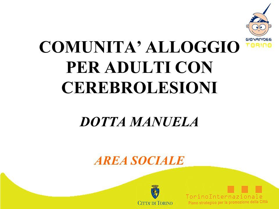 COMUNITA' ALLOGGIO PER ADULTI CON CEREBROLESIONI