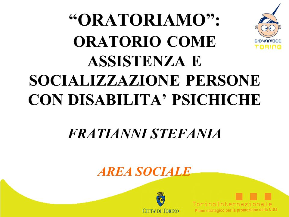 FRATIANNI STEFANIA AREA SOCIALE