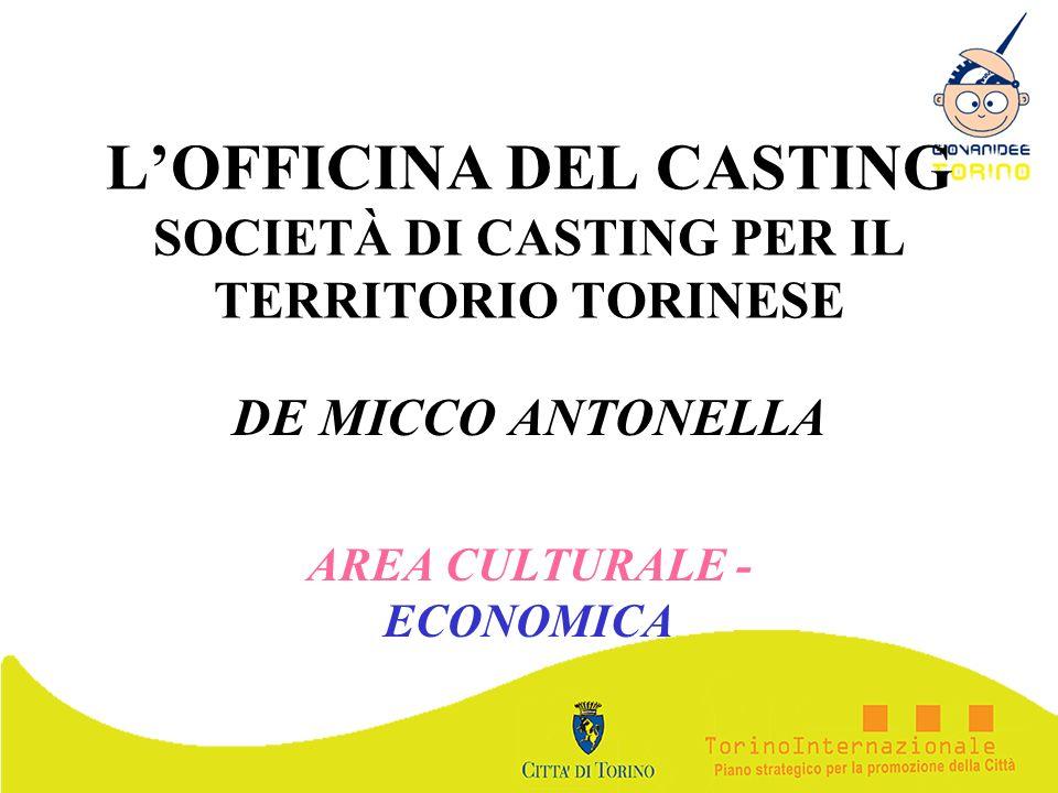 L'OFFICINA DEL CASTING SOCIETÀ DI CASTING PER IL TERRITORIO TORINESE