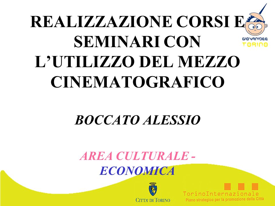 BOCCATO ALESSIO AREA CULTURALE - ECONOMICA