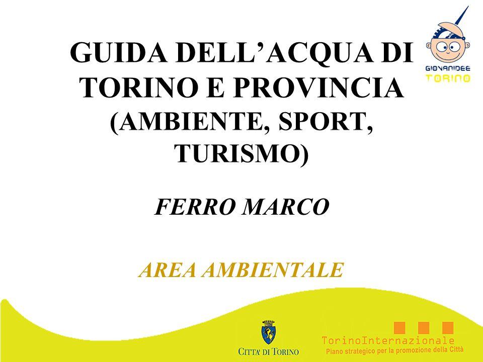 GUIDA DELL'ACQUA DI TORINO E PROVINCIA (AMBIENTE, SPORT, TURISMO)