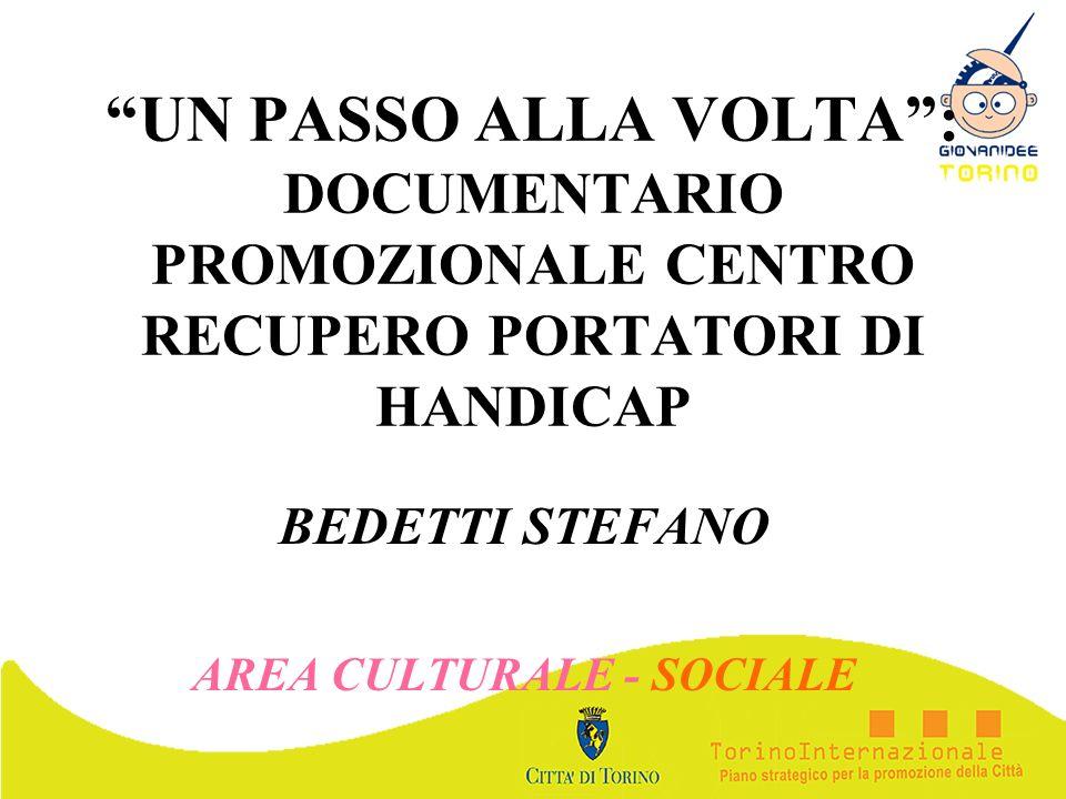 BEDETTI STEFANO AREA CULTURALE - SOCIALE
