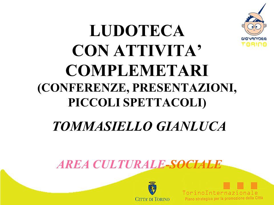 TOMMASIELLO GIANLUCA AREA CULTURALE-SOCIALE
