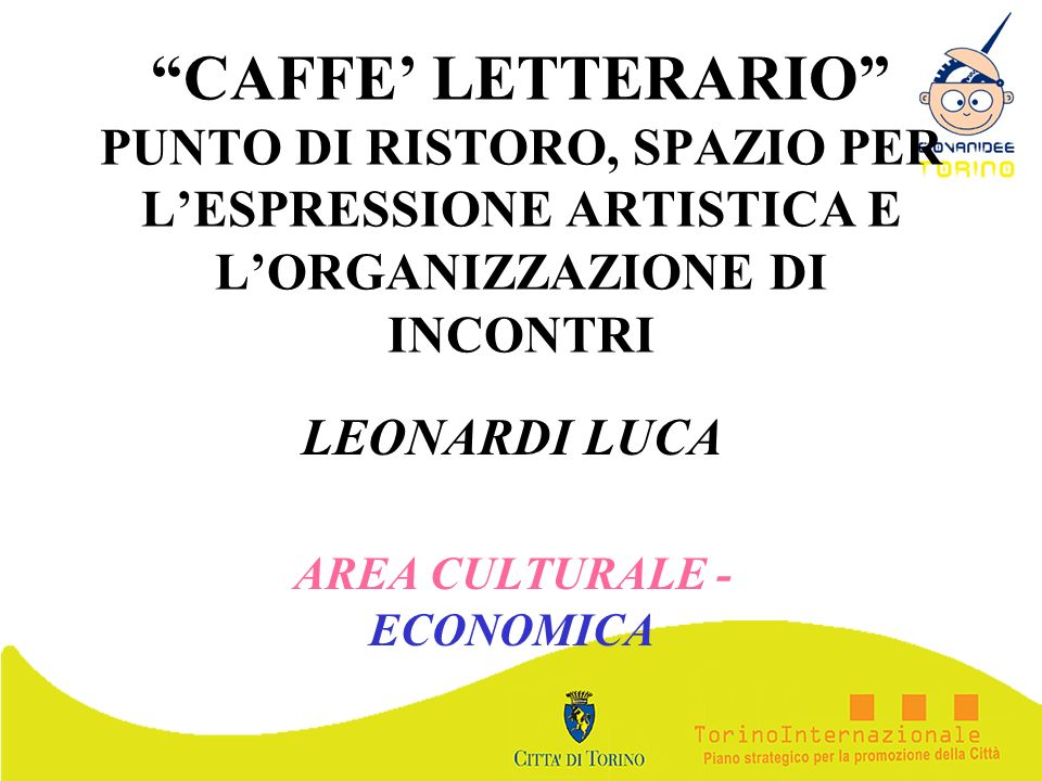 LEONARDI LUCA AREA CULTURALE - ECONOMICA