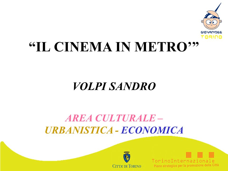 VOLPI SANDRO AREA CULTURALE – URBANISTICA - ECONOMICA