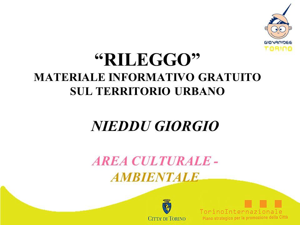 RILEGGO MATERIALE INFORMATIVO GRATUITO SUL TERRITORIO URBANO