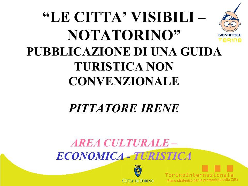 PITTATORE IRENE AREA CULTURALE – ECONOMICA - TURISTICA