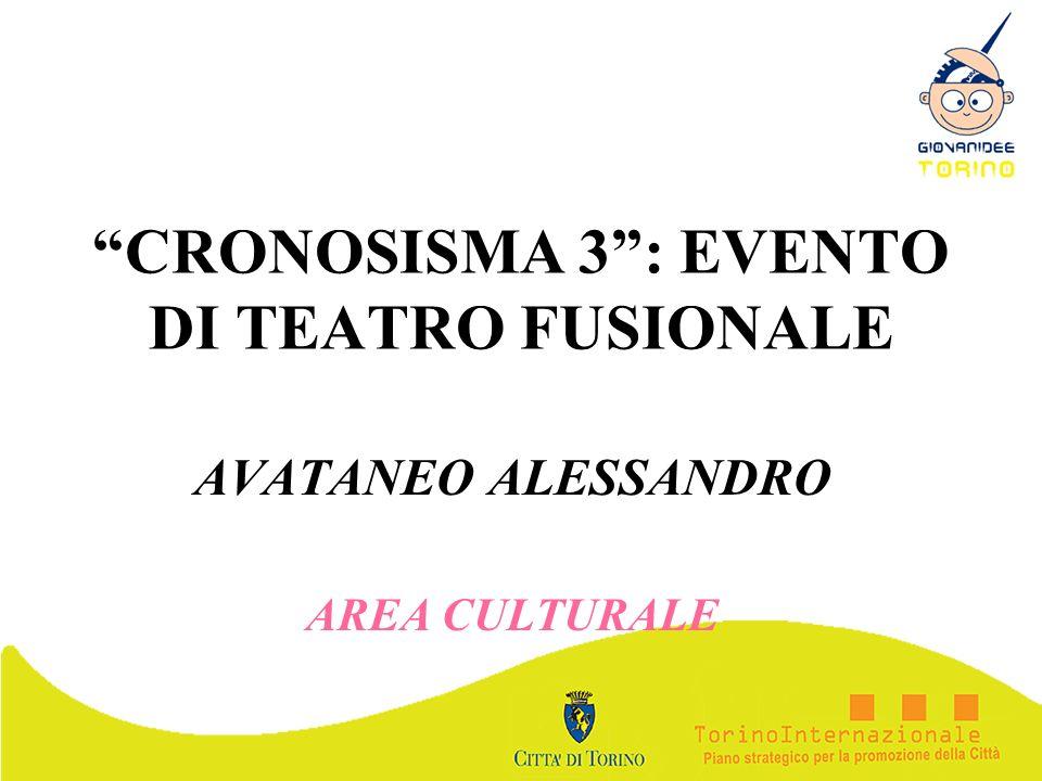 CRONOSISMA 3 : EVENTO DI TEATRO FUSIONALE