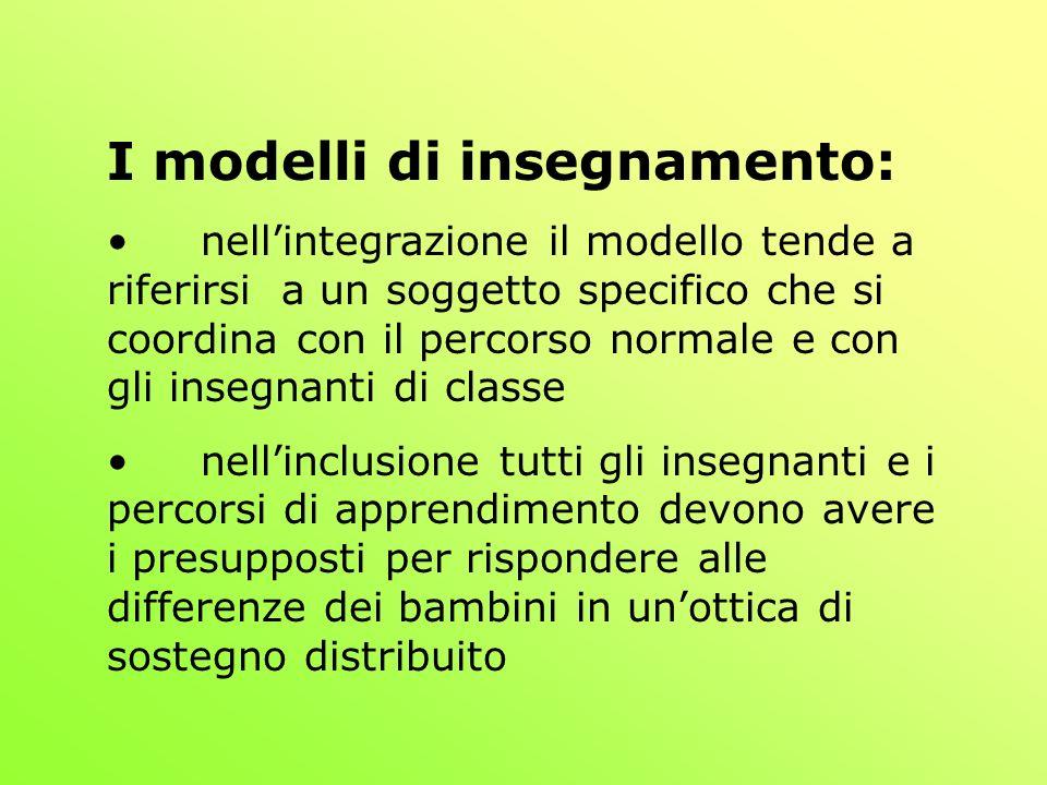 I modelli di insegnamento:
