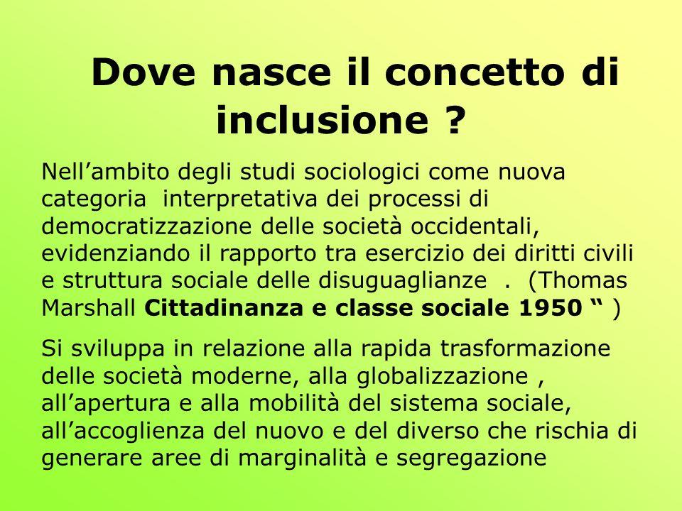 Dove nasce il concetto di inclusione