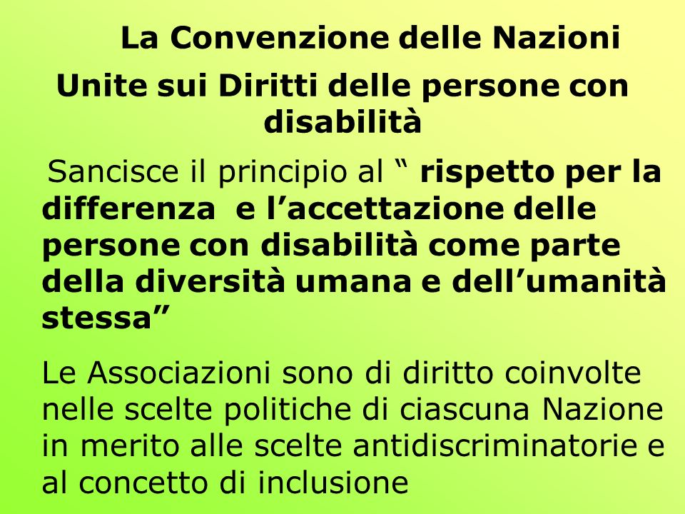 La Convenzione delle Nazioni Unite sui Diritti delle persone con disabilità