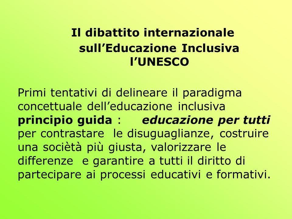 Il dibattito internazionale sull'Educazione Inclusiva l'UNESCO
