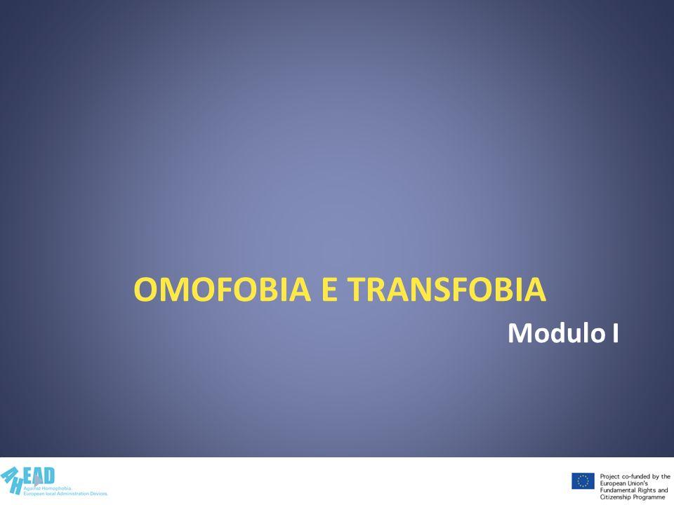 Omofobia e transfobia Modulo I