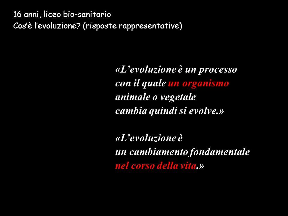 «L'evoluzione è un processo