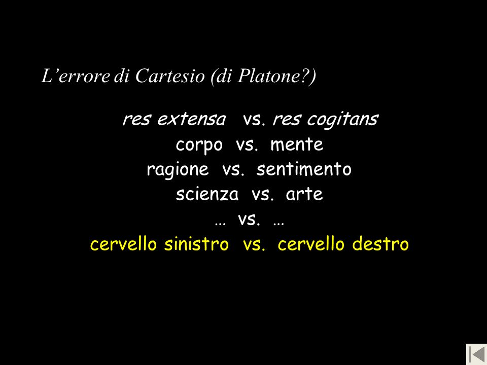 L'errore di Cartesio (di Platone )