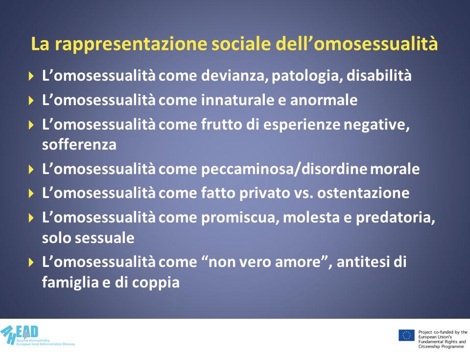La rappresentazione sociale dell'omosessualità