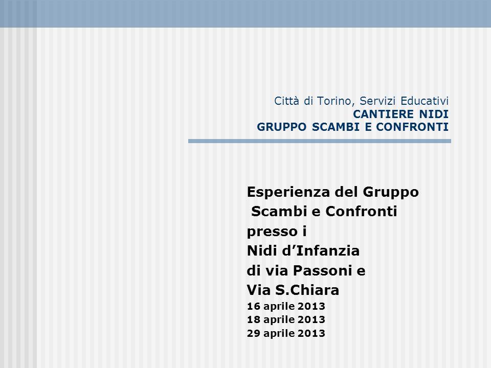Esperienza del Gruppo Scambi e Confronti presso i Nidi d'Infanzia
