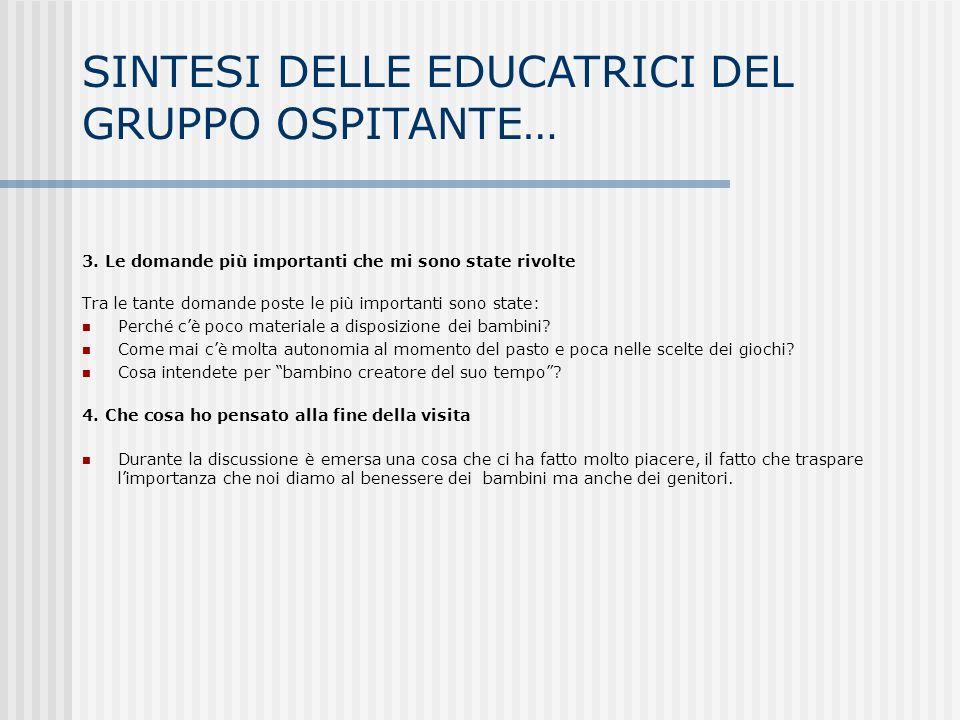 SINTESI DELLE EDUCATRICI DEL GRUPPO OSPITANTE…