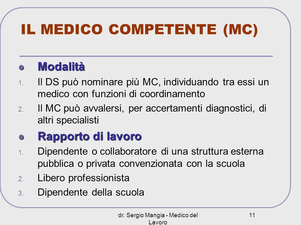IL MEDICO COMPETENTE (MC)