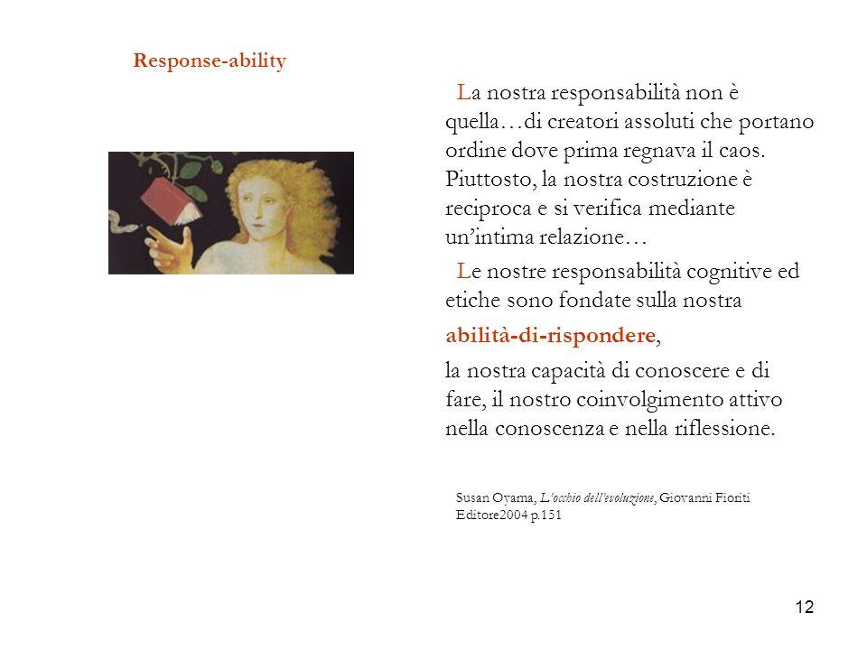 Le nostre responsabilità cognitive ed etiche sono fondate sulla nostra