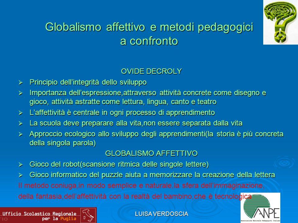 Globalismo affettivo e metodi pedagogici a confronto