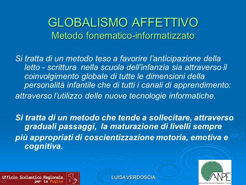 GLOBALISMO AFFETTIVO Metodo fonematico-informatizzato