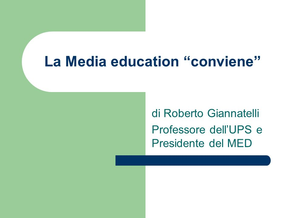 La Media education conviene