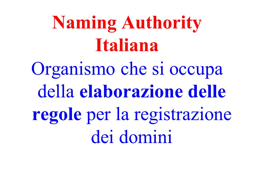 Naming Authority Italiana