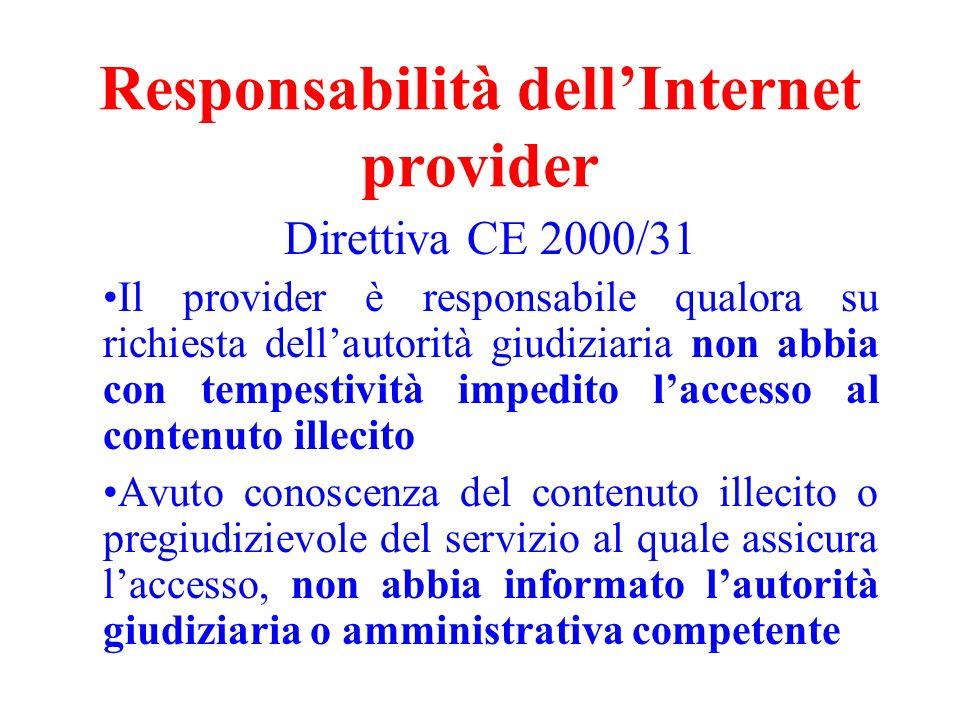 Responsabilità dell'Internet provider