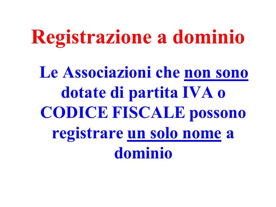 Registrazione a dominio