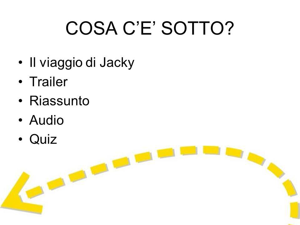COSA C'E' SOTTO Il viaggio di Jacky Trailer Riassunto Audio Quiz