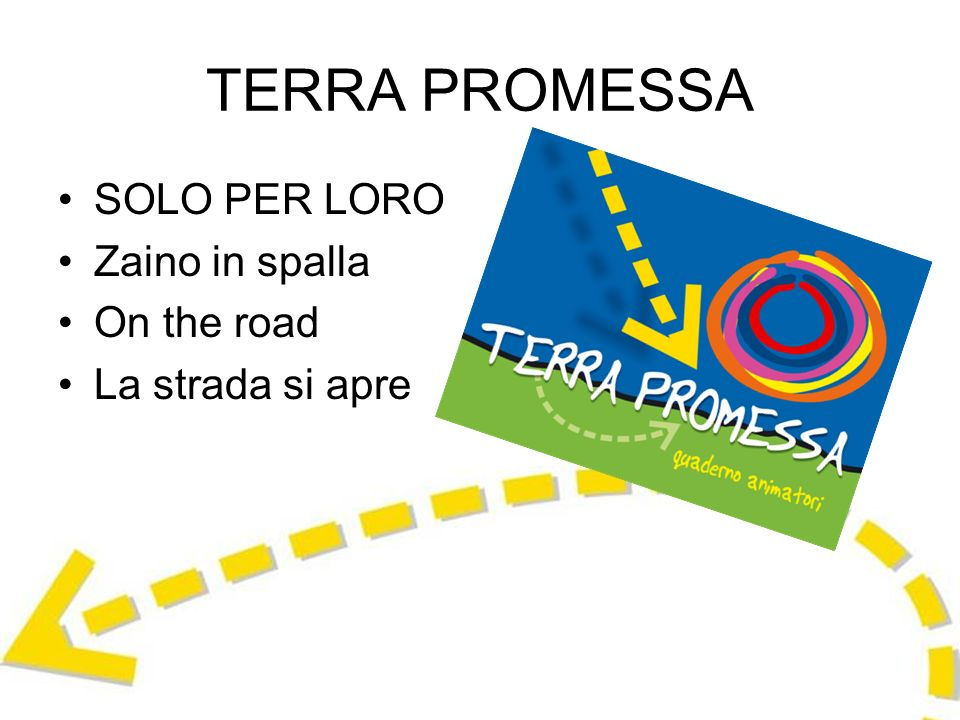 TERRA PROMESSA SOLO PER LORO Zaino in spalla On the road