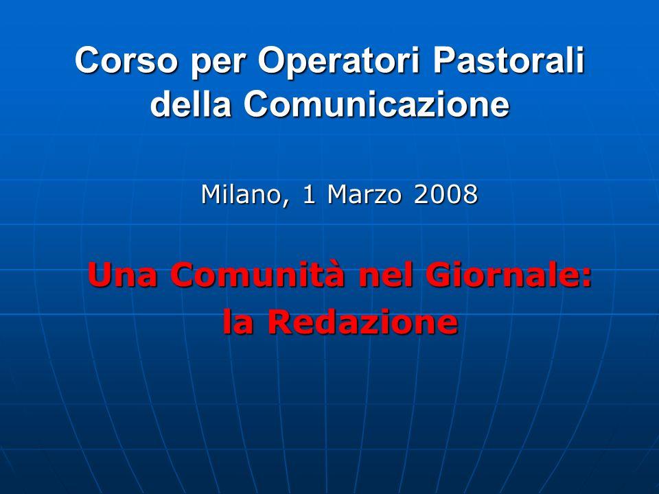 Corso per Operatori Pastorali della Comunicazione
