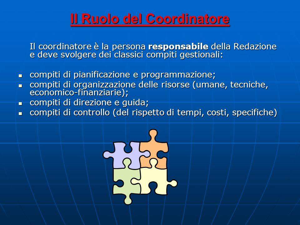 Il Ruolo del Coordinatore