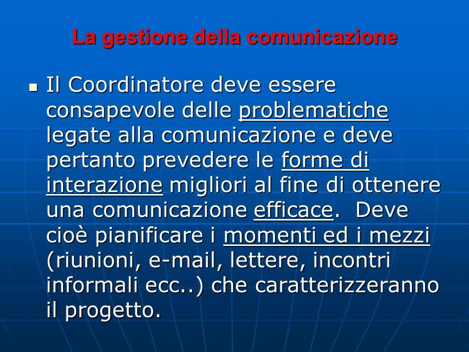 La gestione della comunicazione