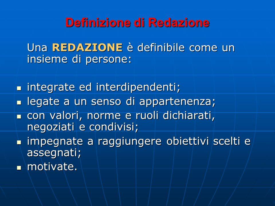 Definizione di Redazione