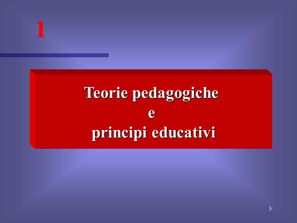 1 Teorie pedagogiche e principi educativi