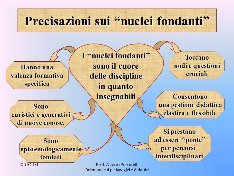 Precisazioni sui nuclei fondanti