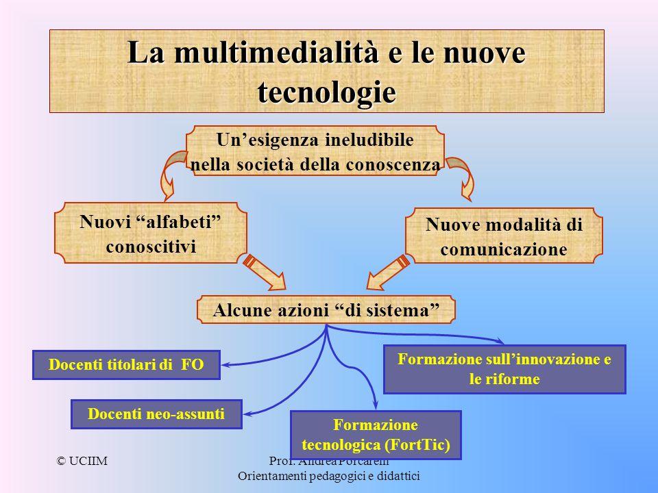 La multimedialità e le nuove tecnologie