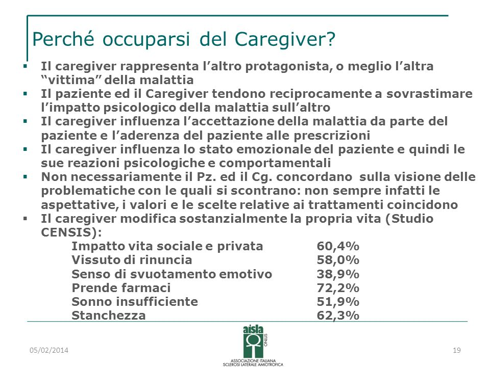 Perché occuparsi del Caregiver