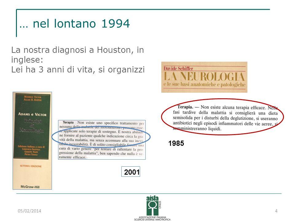 … nel lontano 1994 La nostra diagnosi a Houston, in inglese: