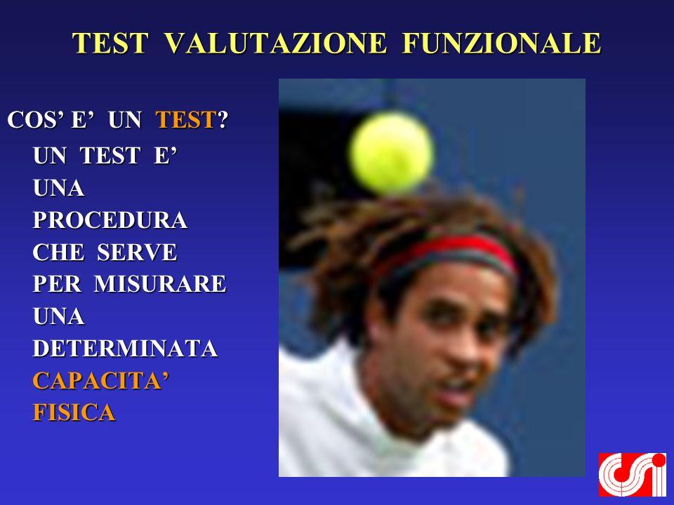 TEST VALUTAZIONE FUNZIONALE