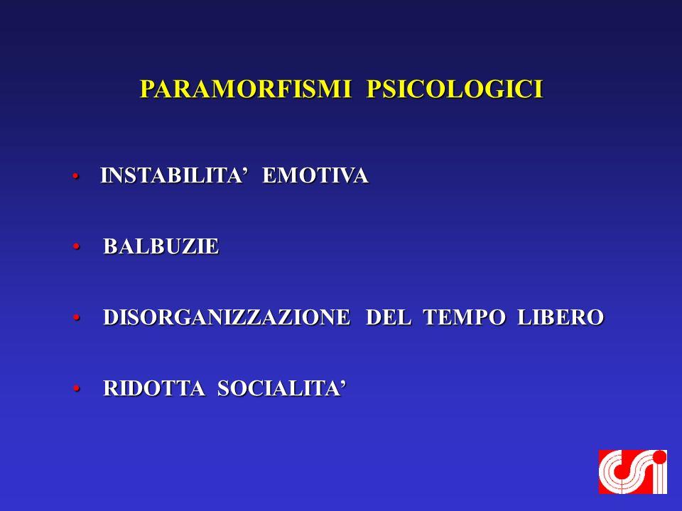 PARAMORFISMI PSICOLOGICI