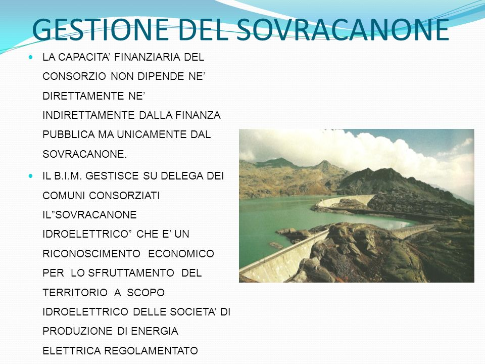 GESTIONE DEL SOVRACANONE