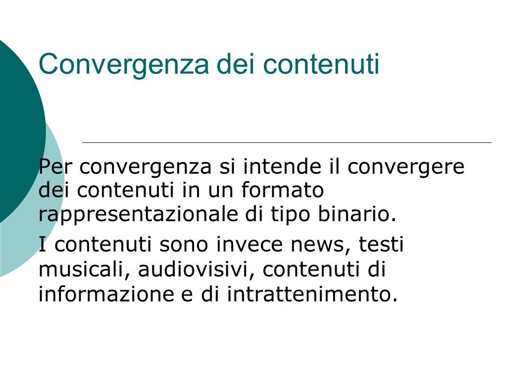 Convergenza dei contenuti