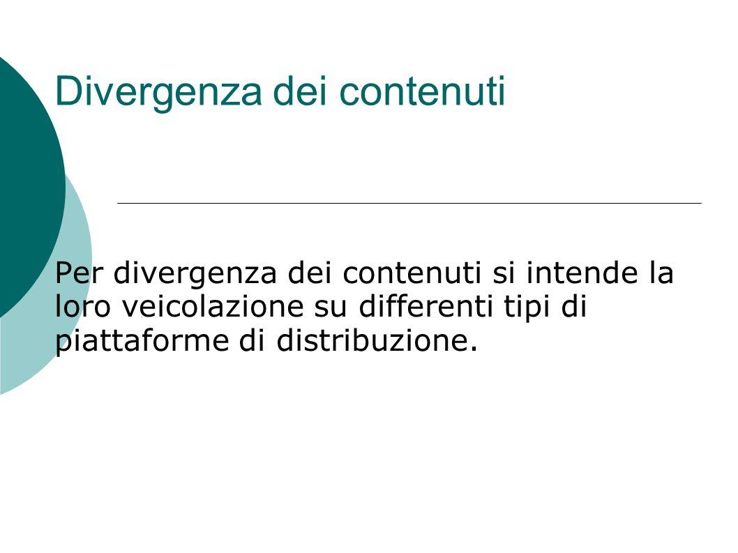 Divergenza dei contenuti