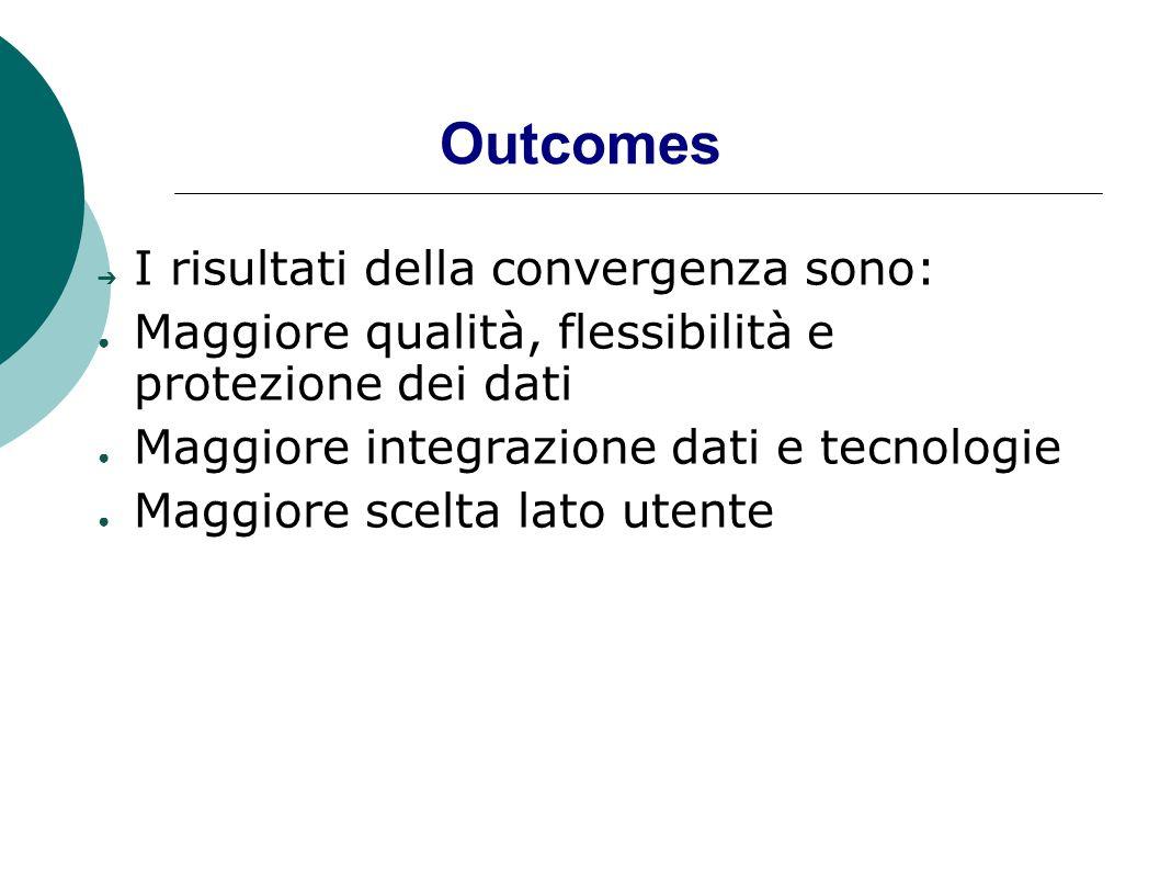 Outcomes I risultati della convergenza sono: