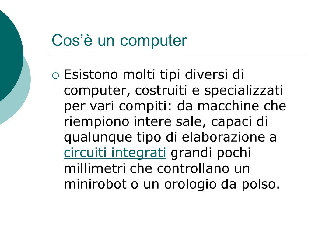 Cos'è un computer