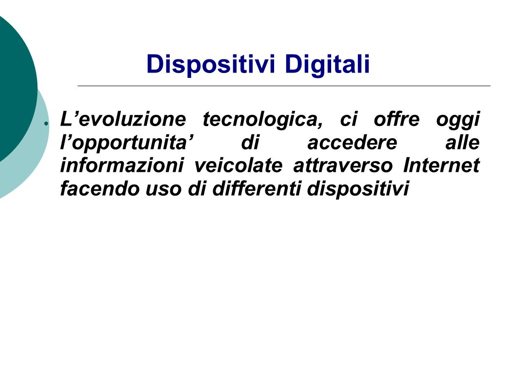 Dispositivi Digitali